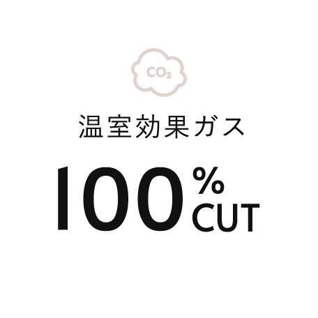 温室効果ガス100%OFF