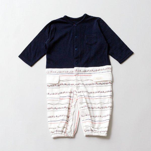 2wayカバーオール(長袖)for Boy【オーガニックコットン使用】